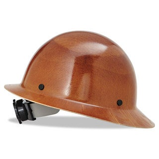 MSA Skullgard Protective Hard Hats Ratchet Suspension Size 6 1/2- 8 Natural Tan