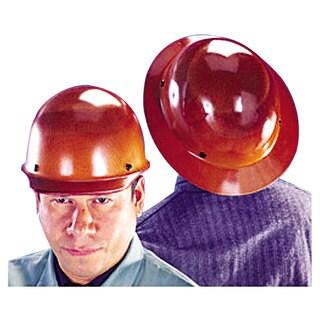 MSA Skullgard Protective Hard Hats Pin-Lock Suspension Size 6 1/2 - 8 Natural Tan
