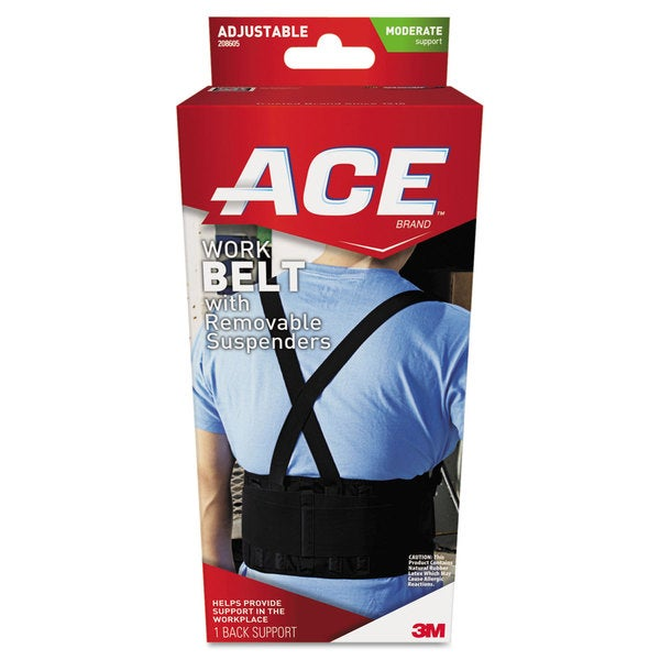 ACE Work Belt with Removable Suspenders Fits Waists Up To 48-inch Black
