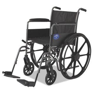 Medline Excel K1 Basic Wheelchair 18-inch wide x 16d 300-pound Cap