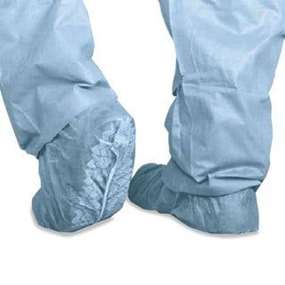 Medline Polypropylene Non-Skid Shoe Covers Large Blue 100/Box