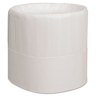 Royal Pleated Chef's Hats Paper White Adjustable 7 inches Tall 28/Carton