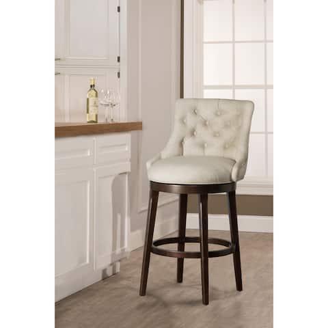 Hillsdale Furniture Halbrooke Smoke Fabric Swivel Counter Stool