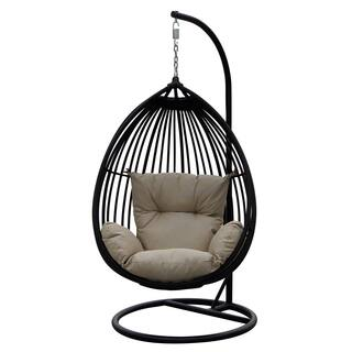 Darlee Tear Drop Shaped Swing Chair with Cushion|https://ak1.ostkcdn.com/images/products/14078897/P20690214.jpg?impolicy=medium