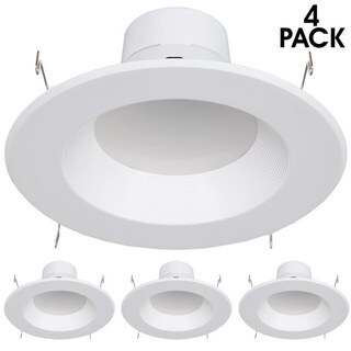 Maxxima 6-inch Dimmable LED Retrofit Downlight Neutral White Lights (Pack of 4)