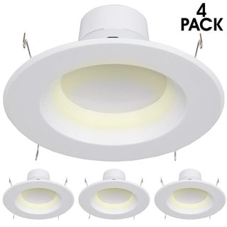 """Maxxima 6"""" Dimmable LED Retrofit Downlight Warm White, 900 Lumens (Pack of 4)"""