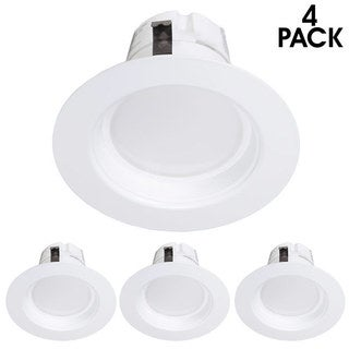 Maxxima 4-inch Dimmable LED Retrofit Downlight (Neutral White, 850 Lumens) (Pack of 4)