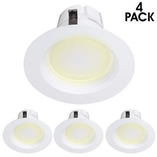 Maxxima 4-inch Dimmable LED Retrofit Downlight Warm White Lights (Pack of 4)