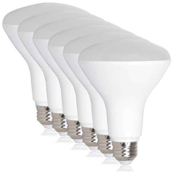 Maxxima Dimmable BR30 8 Watt Warm White LED Light Bulb (Pack of 6)