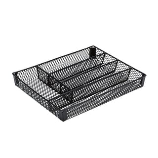 Kitchen Details Black Iron Small Cutlery Tray