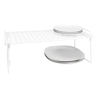 Simply Kitchen Details White Iron Large Foldable Stacking Shelf