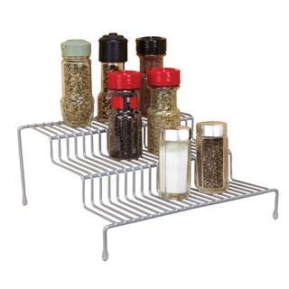 Simply Kitchen Details Grey Iron 3-tier Spice Rack Shelf Organizer