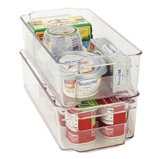 Kitchen Details Clear Plastic Medium Refrigerator Shelf Organizer
