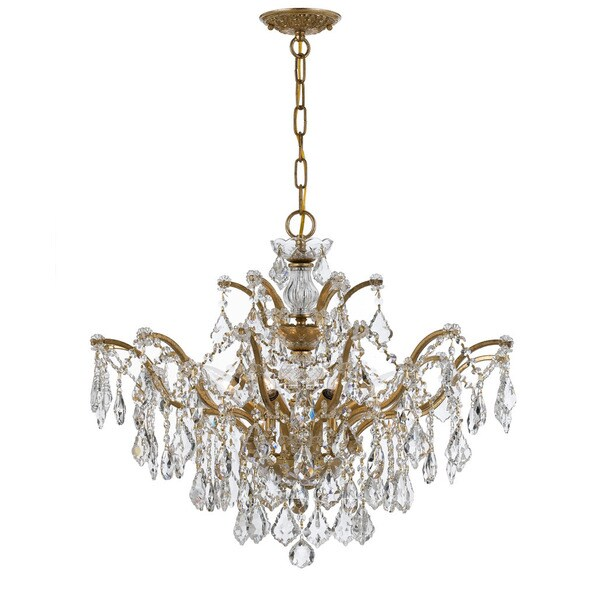 Crystorama Filmore Collection 6-light Antique Gold/ Spectra Crystal Chandelier