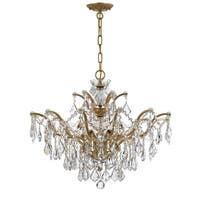 Crystorama Filmore Collection 6-light Antique Gold/ Strass Crystal Chandelier