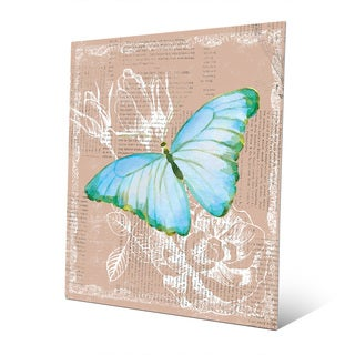 Butterfly on Brown Metal Wall Art Print
