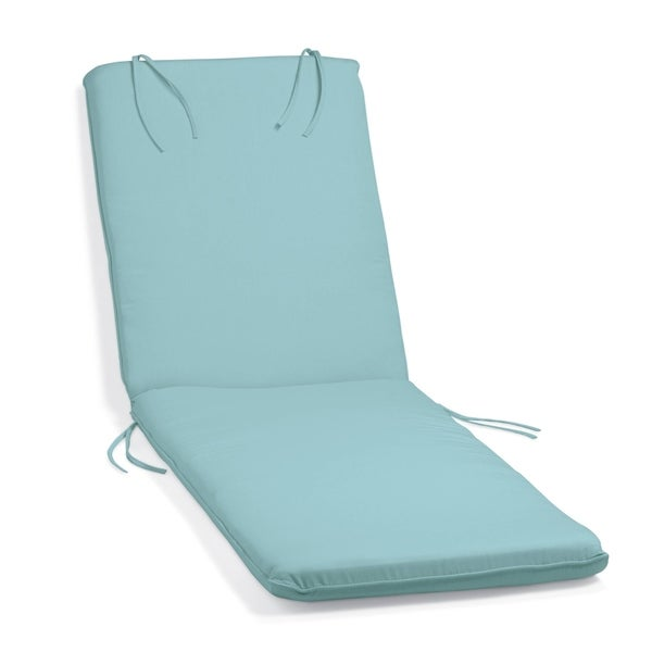 Wonderful Oxford Garden Mineral Blue Sunbrella Cushion For Oxford Chaise Lounge
