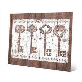 'Shabby Keys' Brown Metal Wall Art Print