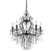 Crystorama Filmore Collection 6-light Vibrant Bronze/Swarovski Spectra Crystal Chandelier