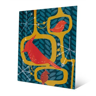 'Resting Birds' Aluminum Wall Art Print