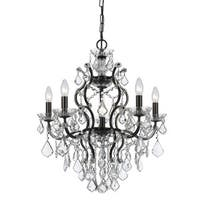 Crystorama Filmore Collection 6-light Vibrant Bronze/Swarovski Strass Crystal Chandelier