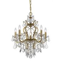 Crystorama Filmore Collection 6-light Antique Gold/Swarovski Elements Spectra Crystal Chandelier