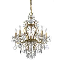 Crystorama Filmore Collection 6-light Antique Gold/Swarovski Strass Crystal Chandelier