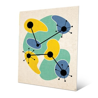 Life Synthesis Green Yellow Metal Wall Art