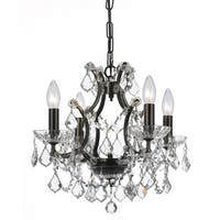 Crystorama Filmore Collection 4-light Vibrant Bronze/Swarovski Strass Crystal Mini Chandelier