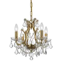Crystorama Filmore Collection 4-light Antique Gold/Swarovski Strass Crystal Mini Chandelier