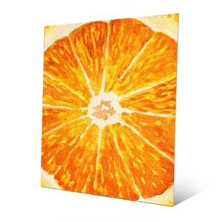 'Up Close Orange' Metal Wall Art