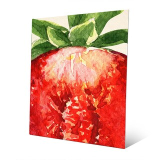 Up-close Strawberry Metal Wall Art Print