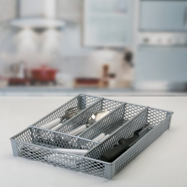 Shop SIMPLY Kitchen Details Grey Over-the-sink Dish Rack - Free ...