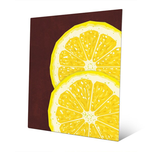 Shop Multicolored Aluminum Large Sliced Lemon Wall Art - On Sale ...