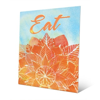 'Watercolor Eatery Amber' Aluminum Wall Art Print