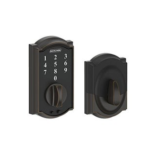 Schlage BE375 CAM 716 Touch Camelot Deadbolt, Aged Bronze