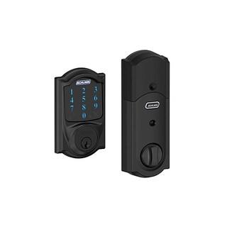 Schlage BE469CAM622 Matte Black Connect Camelot Touchscreen Deadbolt and Alarm