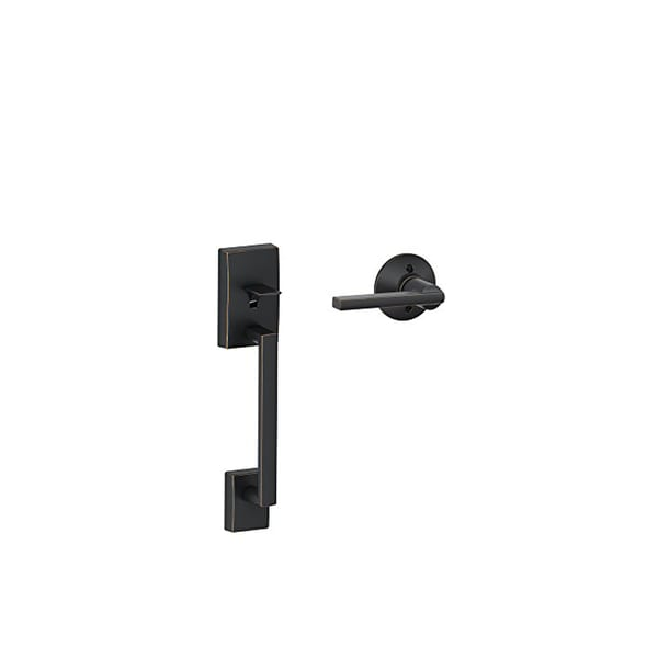 Shop Schlage Fe285cen716lat Century Front Entry Handle Latitude Interior Lever Black Aged