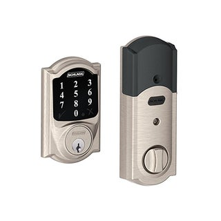 Schlage BE468CAM619 Connect Camelot Touchscreen Deadbolt (Satin Nickel)