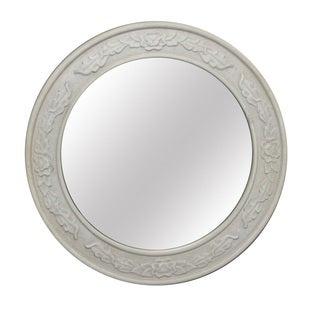 Jeco White Round Wall Mirror