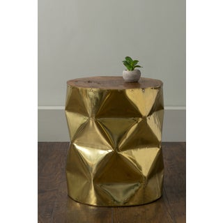 East At Main's Lyon Gold Round Brass Accent Table