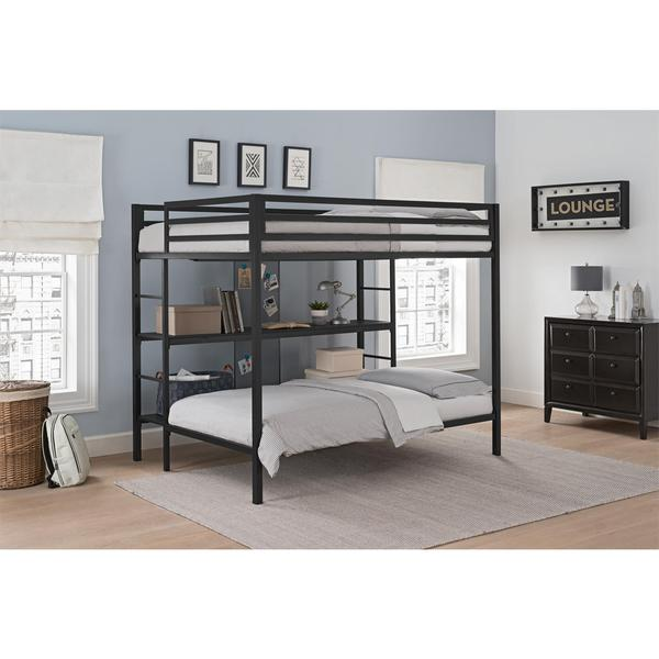 Shop Dhp Ultimate Black Full Over Twin Bunk Bed With Storage Free