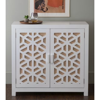 East At Main's Bristol White Rectangular Accent Media Storage Cabinet