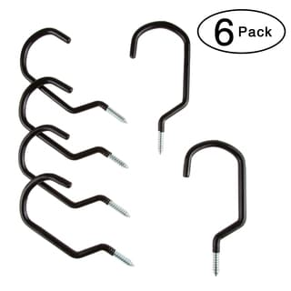 Stalwart 6-piece Large Ceiling and Wall Bike Hooks