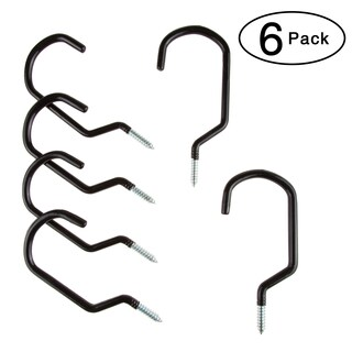 Wall or Ceiling Mount Bike Hooks - Multipurpose Heavy Duty Galvanized Steel 50 Pound Capacity by Stalwart