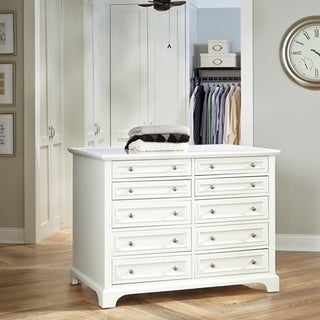 Home Styles White Double-sided Naples Closet Island