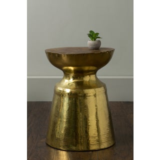 East At Main's Reasnor Gold Round Brass Accent Table