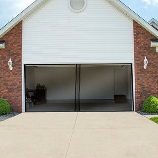 Magnetic Garage Door Screen For Two Car Garage  Heavy Duty Weighted Garage  Enclosure By Pure