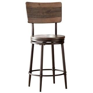 HIllsdale Furniture Jennings Distressed Walnut Swivel Counter Stool