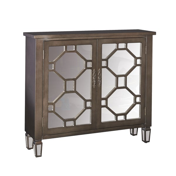 Dusk Blue Kitchen Cabinets: Shop Hex Dusk Mirrored Glam Accent Cabinet
